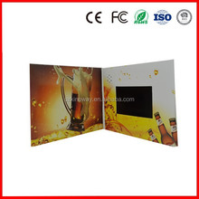 "customize 2.4""/2.8""/3.5""/4.3""/5""/7""/10"" inch Halloween/Christmas LCD video card CE/ROHS mini business gift video brochure"