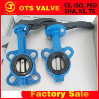 BV-SY-272 rubber seal butterfly valve 150lb