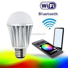 Bluetooth speakerphone Color LED Bulb controlled App 7W 90lm/w E26/E27 Base