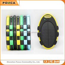 Fashion Portable Manufacturer business solar charger,ultra slim 5000mah soalr mirror power bank,Univeral External Battery Charge