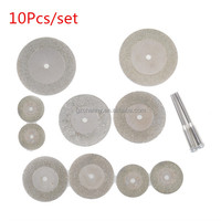 BestPrice 10Pcs/Set 16-40mm Saw Blade Diamond Cutting Pieces Grinding Slice Refine Jade Gem Stone Discs Dremel Rotary Tool