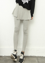 2015 new fashion women's soft cotton fabric cute flat color look slim pantskirt