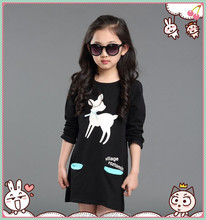 2015 spring children's han edition render unlined upper garment long cultivate one's morality T-shirt of the girl