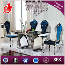 modern stainless steel base marble top dining table on sale A8054