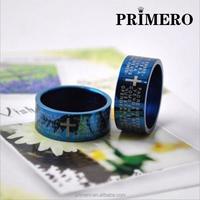 PRIMERO Korean version Pop Korean men Rings Stainless Steel Ring Cross scripture ring