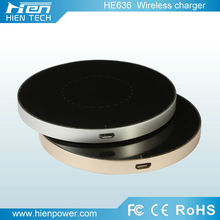 Round shape wirless charger cell phone wireless charging mat for all phones