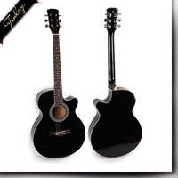 musical instruments beginner linedn guitar ,china guangzhou 40'' plywood practice cheapest acoustic guitar wholesale FS-4014