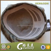 Top quality human hair fine welded mono, mono lace immediate delivery toupee for men
