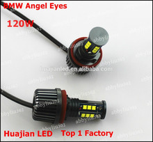 H8 120W LED Angel Eye Marker Bulbs Kit for BMW H8 E87 E82 E90LCI E91 E92 E93 E60 E84 E89 E70 E71 X5 X6