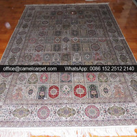 persian silk handmade patterned carpet designs