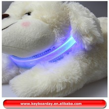 Waterproof LED luminous petsafe dog collar, pink dog collar export most countries
