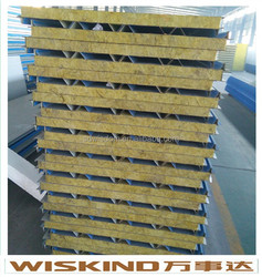 Rockwool sandwich panel/ Metal Insulation Board Carved for wall and ceiling decoration with high quality for prefab house