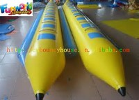 Double Rows Inflatable Fly Fishing Boats For 16 Persons, Inflatable Water Games Flyfish Banana Boat
