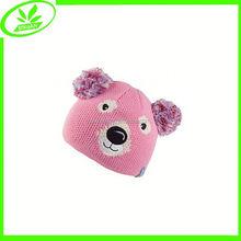 Winter crochet cute animal cap children pig hats