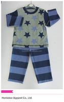 100% cotton long sleeve comfortable baby sleepwear, baby pajamas