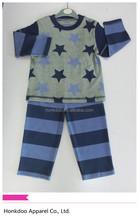 100% cotton long sleeve comfortable baby sleepwear, baby pajamas
