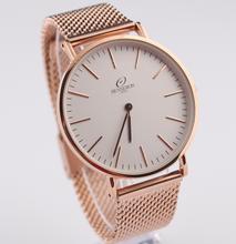 China de fábrica del reloj MOQ bajo pulsera de lujo personalizar Logo reloj de acero