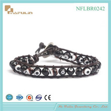 [Nafulin]2015 fashion evil eye chain bead bracelet coloured glaze eye bead bracelet,wholesale evil eye jewelry