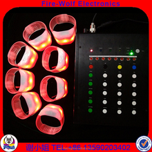 China NEWEST 8 Different ZONE and Group Remote Controlled LED Bracelet /Wristband Wholesale