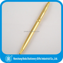 Shining metal gold ball pen best selling gift ball pen in fashion design