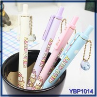 school stationery set cute cat picture plastic disposable 0.5mm ballpoint pen