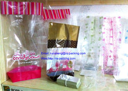 Custom made Middle Sealed Block Square Bottom Bags with Sides Gusset or Flat Bottom