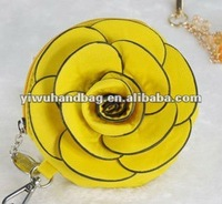 Fashion Women Designer PU Flower Coin Purse in stock