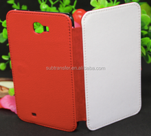 Leather Flip Case Cover for Samsung Galaxy Note1 9220,Leather sublimation cell phone cover
