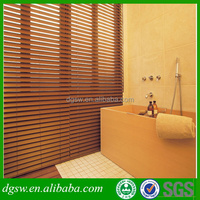 Standard size bathroom glass inserts faux wood waterproof blinds for door and window
