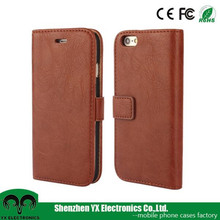 wallet case for iphone 6, flip pu leather case, for iphone 6 wallet case