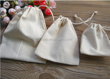 Natural Promotional White Small Canvas Drawstring Bag Cotton