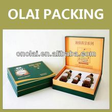 high quality luxury paper packaging box for wine bottle carrier