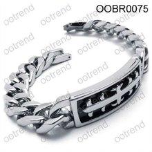 Biker man Cable chain stainless steel bracelet ,Italian heavy steel cuban chain bracelet for men jewelry