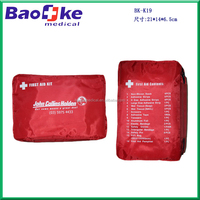 Survival Emergency car first aid kit with multi pockets and print