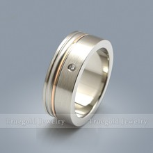 Fashion Jewelry CZ Diamonds Stainless Steel Ring Titanium Ring Wedding Titanium Rings Engagement Band For Women & Men