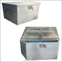 2014 hot selling Aluminum plastic tool box with wheels