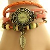 Fashion girl and lady wristwatch/leather straps bracelet watches