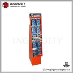 Iphone/Ipad/Sumsung cover cardboard floor hanging display rack for retail