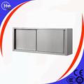 comercial de equipos de acero inoxidable de la puerta corredera del gabinete de cocina