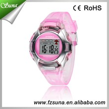 Plastic PVC Strap Many Colors Offer Kids Hand Watch