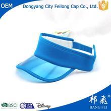 2014 Cool Plastic Summer Sun Visor Cheap Blank Sports Caps