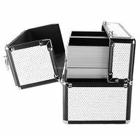portable aluminum cosmetic suitcase aluminum suitcase with foam insert