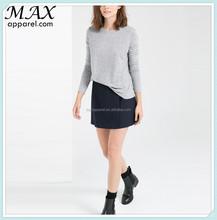 Casual style fashion clothing round neck long sleeves custom tshirt branded export tshirt from alibaba china