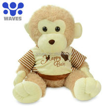 Monkey baby with clothes Plush stuffed toys,Toys manufacturer