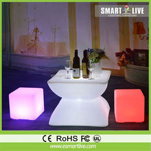 led plastic cube chair/led night club chairs/colored led chairs garden led ball light