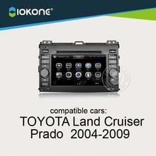 iokone dashboard touch screen car radio dvd audio gps navigation for TOYOTA Land Cruiser Prado 2004-2009