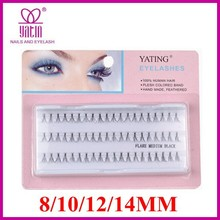 long 14mm 60 flare/cluster individual false eyelash extension 60 strands knot false lashes