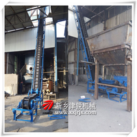 Replace bucket elevator use to convey products from low to high place DJ inclined belt conveyor