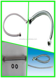 stainless steel braided water hose/metal shower hose brass flexible toilet hose