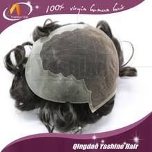7A Top quality 6 inch hair men toupee in stock injected European Hair Super Thin Pu Toupee